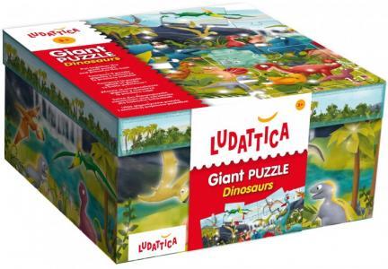 Пазл гигантский Страна динозавров (48 элементов) Ludattica
