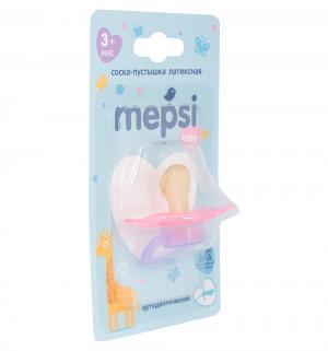 Соска-пустышка  противоколиковая латекс, с 3 мес, цвет: розовый Mepsi