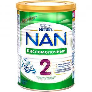 Молочная смесь  2 Кисломолочный с 6 месяцев, 400 г Nan
