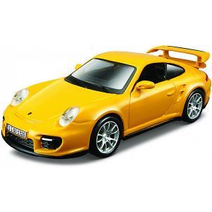 Машинка  Porsche 911 GT2, 1:32 Bburago. Цвет: желтый