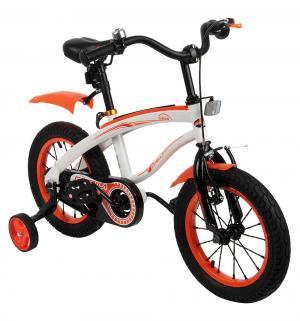 Двухколесный велосипед  G14BM, цвет: белый/оранжевый Capella