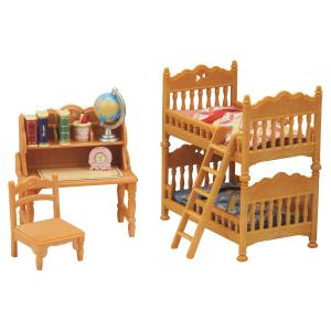 Набор  Детская комната с двухэтажной кроватью Sylvanian Families