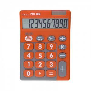 Калькулятор настольный 10 разрядов двойное питание 145х106х21 мм Duo Milan
