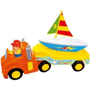 Развивающая игрушка  Трейлер с яхтой Kiddieland. Цвет: синий/красный