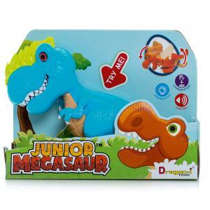 Динозавр Аллозавр, со светом и звуком, голубой, Junior Megasaur Dragon-i