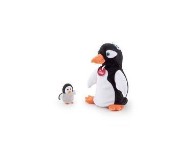 Мягкая игрушка на руку Пингвин с пингвиненком 17х25х13 см Trudi