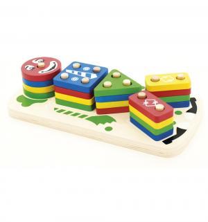 Развивающая игрушка  Пирамидка-клоун Мир Деревянных Игрушек