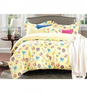 Комплект постельного белья  Игрушки, цвет: желтый 3 предмета Cleo