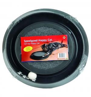 Игрушка для кошек  Happy Cat Погоняй мячик, цвет: черный, 41*38*5см Beeztees