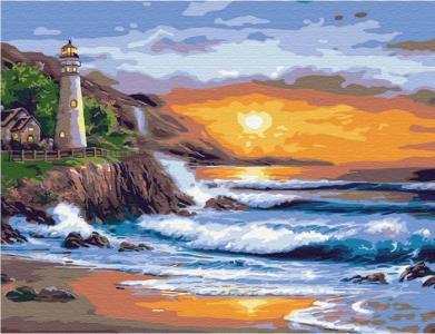 Картина по номерам с цветной схемой на холсте Красивый закат 40х30 см Molly
