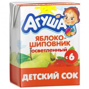 Сок  яблоко-шиповник, 200 мл Агуша
