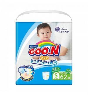 Подгузники-трусики  S для девочек (5-9 кг) 62 шт. Goon