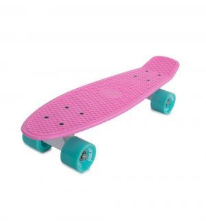 Скейтборд  Sunny 4, цвет: розовый Larsen