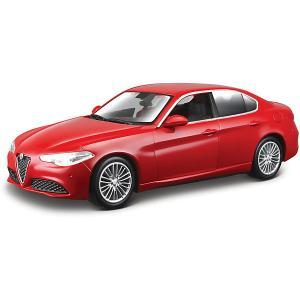 Коллекционная машинка  Alfa Romeo Giulia 1:43, красная Bburago. Цвет: красный