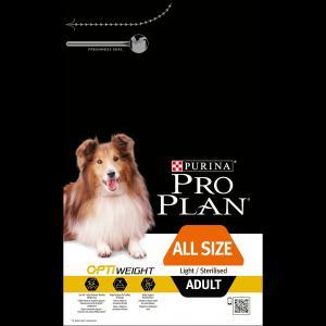 Сухой корм  Optiweight Sterilised для взрослых собак при склонности к избыточному весу/после стерилизации, курица, 3кг Pro Plan