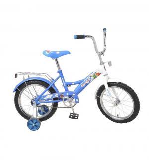Детский двухколесный велосипед  Ну, цвет: синий/белый Navigator