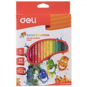 Карандаши цветные Color Emotion трехгранные 36 цветов Deli