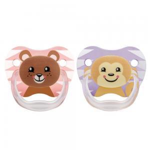 Пустышка Dr.Browns PreVent Классик для девочек силикон, с 6 мес, цвет: розовый Dr.Brown's