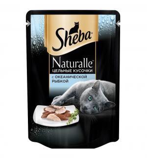 Влажный корм  для взрослых кошек, с океанической рыбкой, 80г Sheba