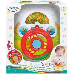 Интерактивная игрушка ToysLab Bebelino Руль, с креплением Toys Lab. Цвет: разноцветный