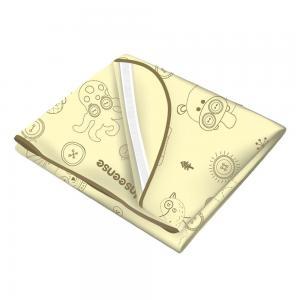 Клеенка  подкладная с обработкой тесьмой резинками-держателями, 1 шт, цвет: желтый Inseense