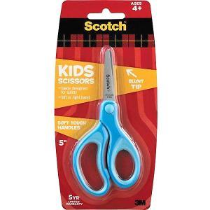 Детские ножницы  Sotch голубые, 12 см 3M. Цвет: голубой