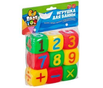 Игровой набор для купания кубики Математика 9 шт. Bondibon