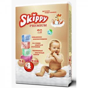 Подгузники Premium р. 4 (7-18 кг) 74 шт. Skippy
