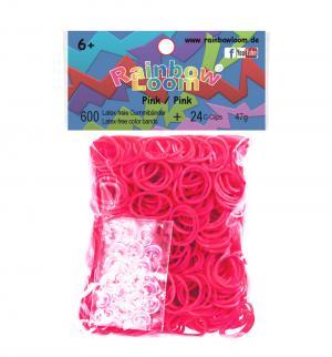 Резинки  для плетения Solid bands розовый 600 шт Rainbow Loom