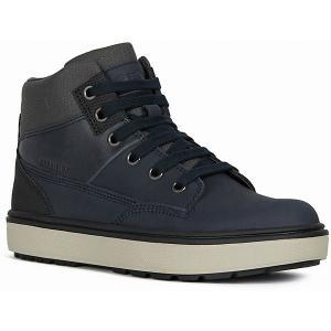 Утепленные ботинки Geox. Цвет: сине-серый