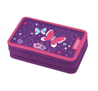 Пенал  Purple Butterfly 23 предмета 19.3х11.5х4.5 см Herlitz