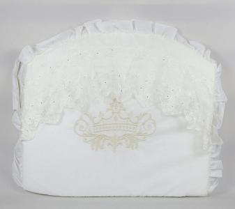 Комплект постельного белья  Lux 1824, цвет: бежевый 8 предметов бант 26 х 24 28 см Tizo