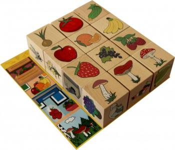 Деревянная игрушка  Кубики Окружающий мир Краснокамская