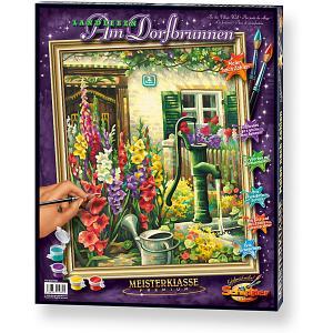 Картина по номерам  Цветник у дома, 40х50 см Schipper. Цвет: разноцветный