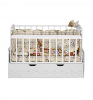 Кровать  Укачай-ка 03, цвет: белый Daka Baby