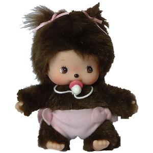 Мягкая игрушка  Бэбичичи, девочка в подгузнике, 15 см Monchhichi