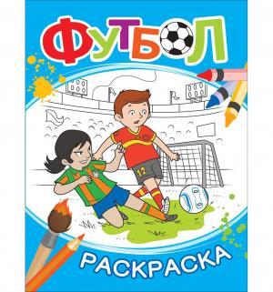 Книжка-раскраска  Футбол (синяя) Росмэн