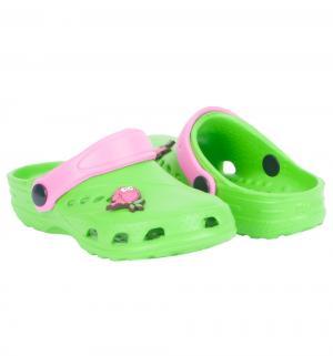 Сабо , цвет: зеленый/розовый Дюна