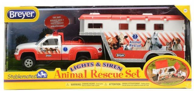 Пикап и трейлер для трех лошадей Спасение животных Breyer