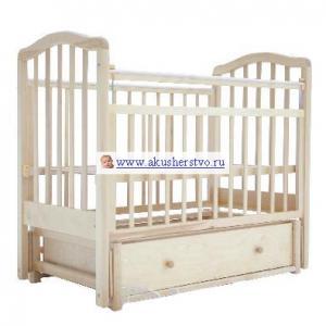Детская кроватка  5 с ящиком маятник поперечный Лаура