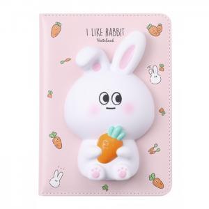 Блокнот со сквишем Зайчик I Like Rabbit А5 Mihi
