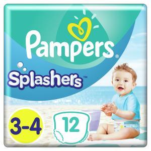 Трусики-подгузники  Splashers, р. 03.апр, 6-11 кг, 12 шт Pampers