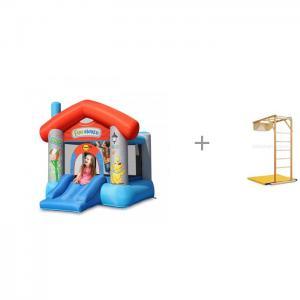 Надувной батут Забавный дом и деревянный складной уголок Kidwood Жираф Happy Hop