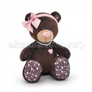 Мягкая игрушка  Milk Медвежонок-девочка сидячая 20 см Orange