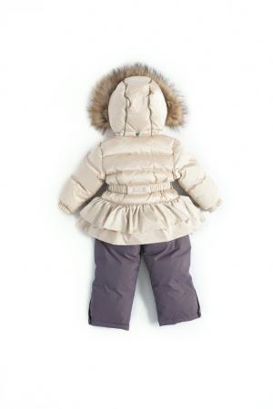 Комплект куртка/полукомбинезон  Heimi, цвет: белый/серый Nels