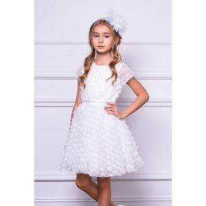 Нарядное платье Choupette. Цвет: бежевый