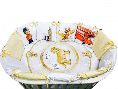 Комплект в кроватку  Детская история Англия (4 предмета) Сонная сказка