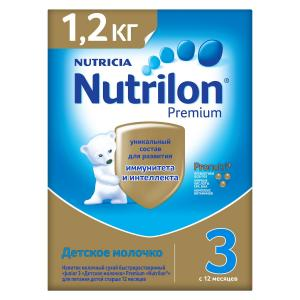 Детское молочко  Premium 3 с 12 месяцев, 1200 г Nutrilon