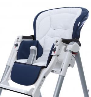 Чехол сменный  к стульчику для кормления Peg-Perego Best Sport, цвет: navy/white Esspero