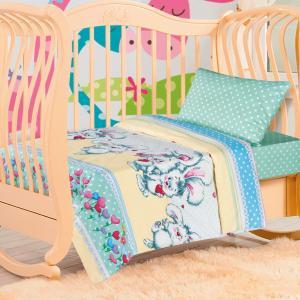Комплект постельного белья ка Пушистик, цвет: салатовый 3 предмета Артпостель